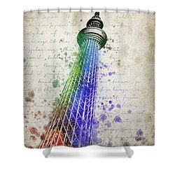 Tokyo Skytree Shower Curtain by Aged Pixel