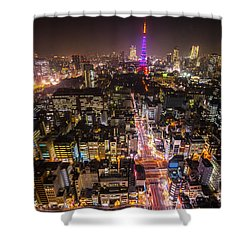 Tokyo Tower - Tokyo - Japan Shower Curtain by Luciano Mortula