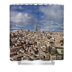 Toledo Old Town Panorama Shower Curtain by Rudi Prott