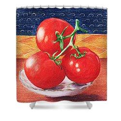 Tomatoes Shower Curtain by Anastasiya Malakhova