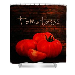 Tomatoes II Shower Curtain by Lourry Legarde
