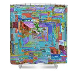 Topographic Albatross Shower Curtain by Tim Allen