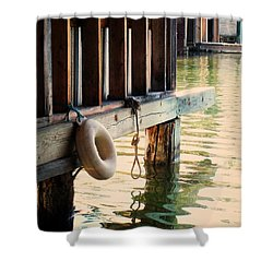 Torch River Bayou Shower Curtain by Michelle Calkins