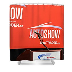 Toronto Autoshow Shower Curtain by Valentino Visentini