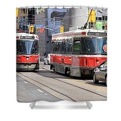 Toronto Street Shower Curtain by Valentino Visentini