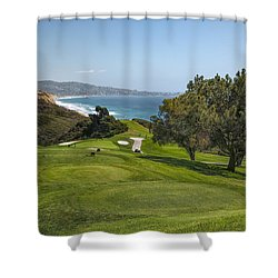 Torrey Pines Golf Course North 6th Hole Shower Curtain by Adam Romanowicz