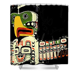 Totem Pole 01 Shower Curtain by Catf