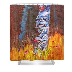 Totems Of Haida Gwaii Shower Curtain by Mohamed Hirji