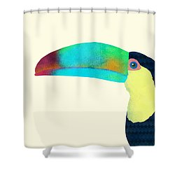 Toucan Shower Curtain by Eric Fan