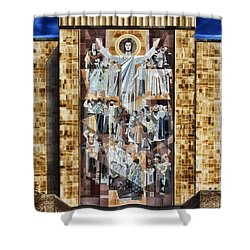 Touchdown Jesus Shower Curtain by Mountain Dreams