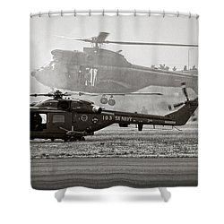 Touchdown Shower Curtain by Paul Job