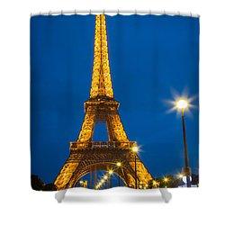 Tour Eiffel De Nuit Shower Curtain by Inge Johnsson