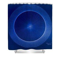 Towards Pi 3.141552779 Hand Drawn Shower Curtain by Jason Padgett