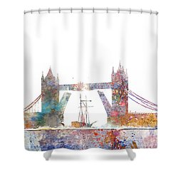 Tower Bridge Colorsplash Shower Curtain by Aimee Stewart