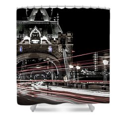 Tower Bridge London Shower Curtain by Martin Newman