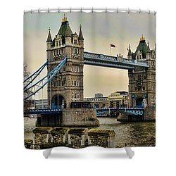 Tower Bridge On The River Thames Shower Curtain by Heather Applegate