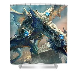 Tower Drake Shower Curtain by Ryan Barger