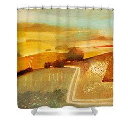 Track Shower Curtain by Charlie Baird