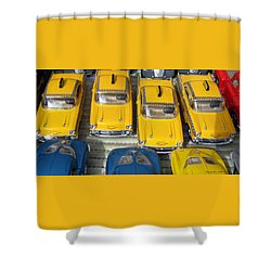 Traffic Jam Shower Curtain by Leena Pekkalainen