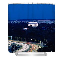 Traffic On The Road, Washington Shower Curtain by Panoramic Images
