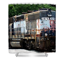 Train Engine #2879 Shower Curtain by Mark Moore