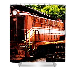 Train Engine Nc Sl  Shower Curtain by Mark Moore