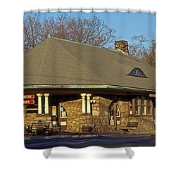 Train Stations And Libraries Shower Curtain by Skip Willits
