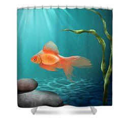 Tranquility Shower Curtain by April Moen