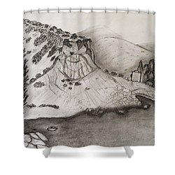 Tranquility Shower Curtain by Augusta Stylianou
