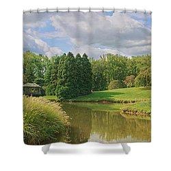 Tranquility Shower Curtain by Kim Hojnacki