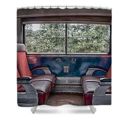 Trans Siberian Express Shower Curtain by Trever Miller