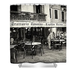 Trattoria In Venice  Shower Curtain by Madeline Ellis
