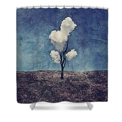 Tree Clouds 01d2 Shower Curtain by Aimelle