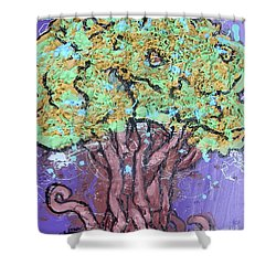 Tree In Three Dee Shower Curtain by Genevieve Esson