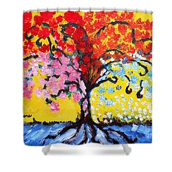 Tree Of Life Shower Curtain by Ramona Matei