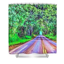 Tree Tunnel Kauai Shower Curtain by Dominic Piperata
