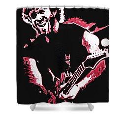 Trey Anastasio In Pink Shower Curtain by Joshua Morton