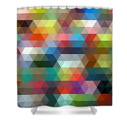 Triangulation 2 Shower Curtain by Taylan Apukovska