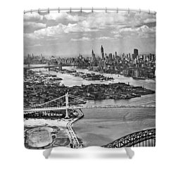 Triborough Bridge Is Completed Shower Curtain by Underwood Archives