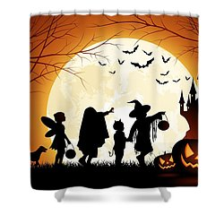 Trick Or Treat Shower Curtain by Gianfranco Weiss