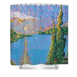Trinity Lake 2 Shower Curtain by Stefan Duncan