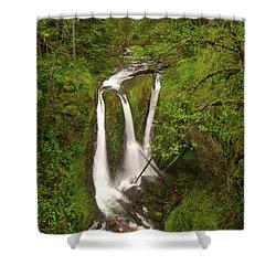 Triple Falls  Shower Curtain by Jeff Swan