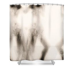 Triplication Shower Curtain by Jessica Shelton