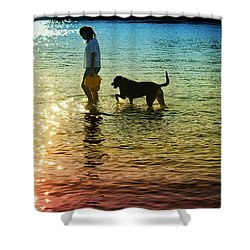 Tripping The Light Fantastic Shower Curtain by Laura Fasulo