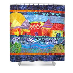 Tropical Harmony Shower Curtain by Susan Rienzo