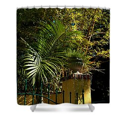 Tropical Invitation Shower Curtain by Susanne Van Hulst