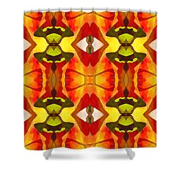 Tropical Leaf Pattern 7 Shower Curtain by Amy Vangsgard