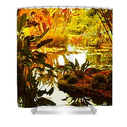 Tropical Paradise Shower Curtain by Amy Vangsgard