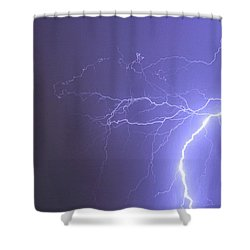 Tropical Thunderstorm Night  Shower Curtain by James BO  Insogna