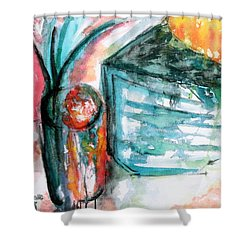 Tuesday Afternoon Shower Curtain by Lyndsey Hatchwell